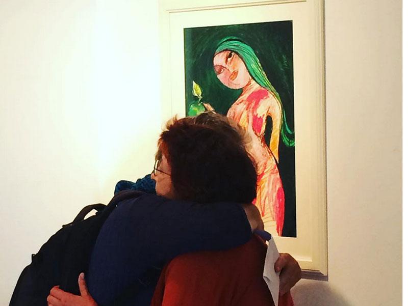 """Vernissage zur Ausstellung """"1.000 Stories"""", Oxana Mahnac, Beginenhof, Berlin, September 2017"""