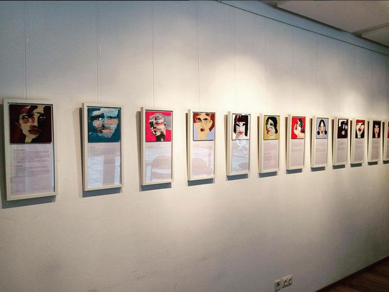 """Ausstellung """"1.000 Stories"""", Oxana Mahnac, Beginenhof, Berlin"""