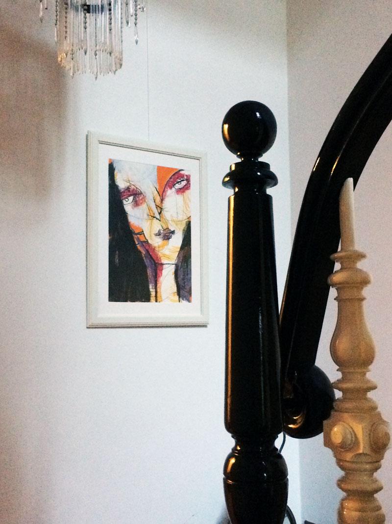 Portrait, Mixed Media auf Papier, 60 x 42 cm, Oxana Mahnac