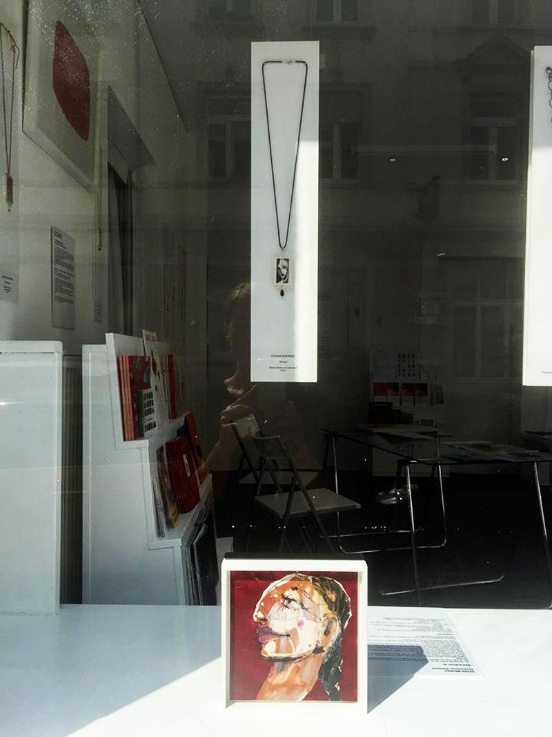 Vernissage in Heidelbern mit Zeichnungen von Oxana Mahnac