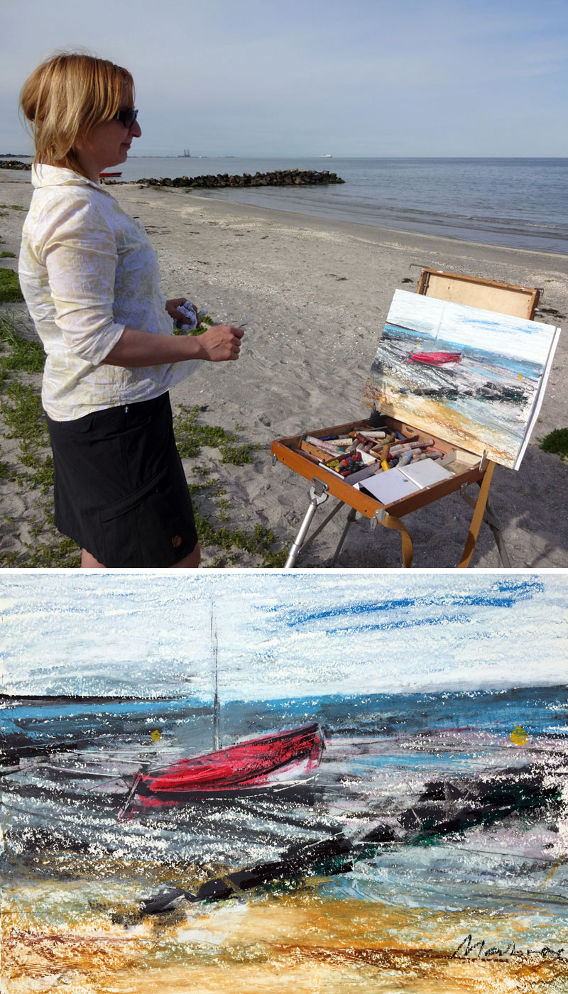 en plein air in Denmark with Oxana Mahnac