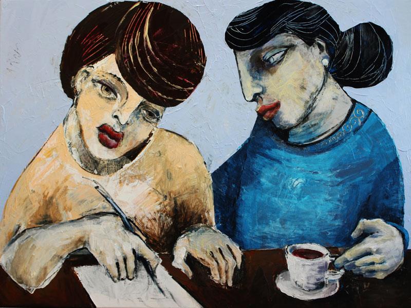 Liebesbrief, Acryl auf Leinwand, 60 x 80 cm, Oxana Mahnac, 2015 (sold)