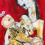My Baby, 60 x 42 cm, Mixed Media, Oxana Mahnac (sold)