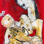 My Baby, 60 x 42 cm, Mixed Media, Oxana Mahnac (sold)