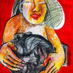 Desdemona, 64 x 50 cm, Mixed Media, 2011, Oxana Mahnac