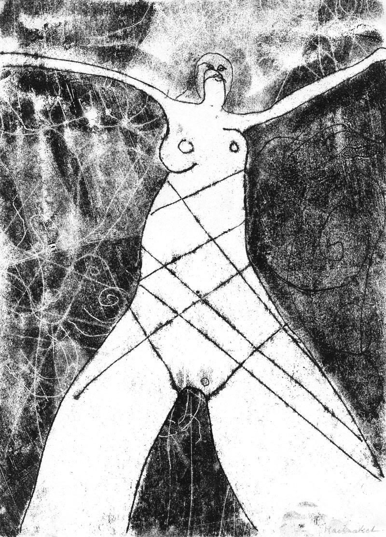 Nude, Monotypie, 30 x 21 cm, Oxana Mahnac, 1998