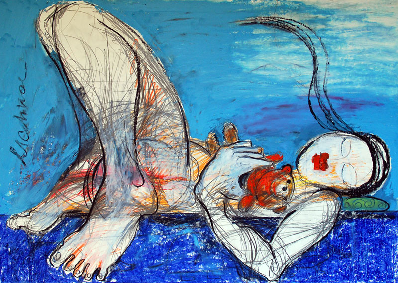 Taddy, 42 x 60 cm, Mixed Media, Oxana Mahnac (sold)