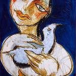 Mein Vogel, , 42 x 60 cm, Mixed Media, Oxana Mahnac (sold)