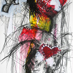 The Gun, 60 x 42 cm, Mixed Media, Oxana Mahnac (sold)