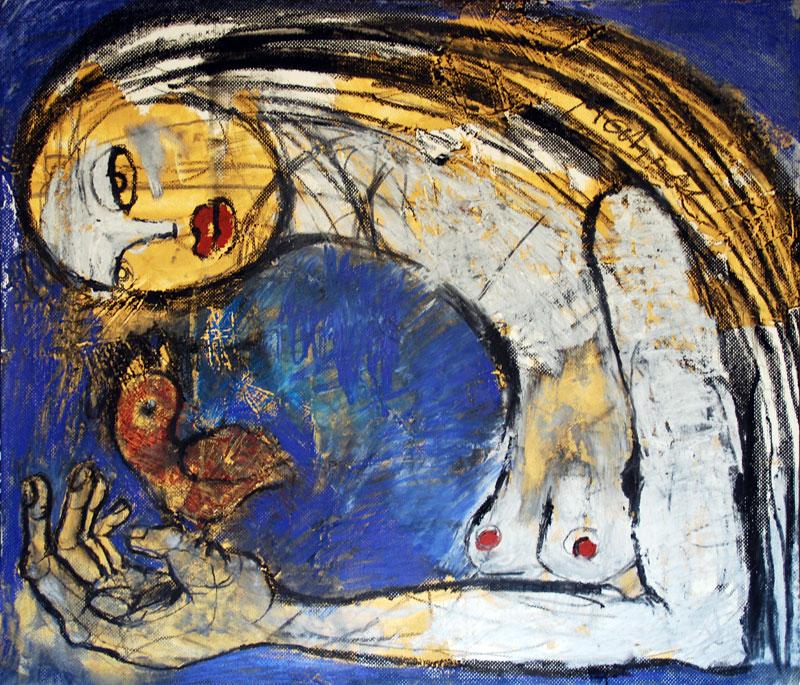 Vertrauen, 50 x 64 cm, Mixed Media, Oxana Mahnac (sold)