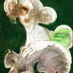 Modemoiselle, 56 x 48 cm, Mixed Media, Oxana Mahnac