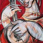 Musik, 60 x 42 cm, Mixed Media, Oxana Mahnac (sold)