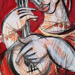 Musik, 60 x 42 cm, Mixed Media, Oxana Mahnac (sold)