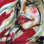 My body my rights, 60 x 42 cm, Mixed Media, Oxana Mahnac (sold)