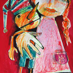Pinocchio, 60 x 42 cm, Mixed Media, Oxana Mahnac (sold)