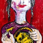 Rotkäpchen, 60 x 42 cm, Mixed Media, Oxana Mahnac