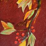 Herbst (vier Jahreszeiten Reihe), 84 x 56 cm, Mixed Media auf Papier, Oxana Mahnac, 2015