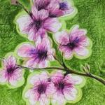 Frühling (vier Jahreszeiten Reihe), 84 x 56 cm, Mixed Media auf Papier, Oxana Mahnac, 2015