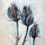 Winter (vier Jahreszeiten Reihe), 84 x 56 cm, Mixed Media auf Papier, Oxana Mahnac, 2015