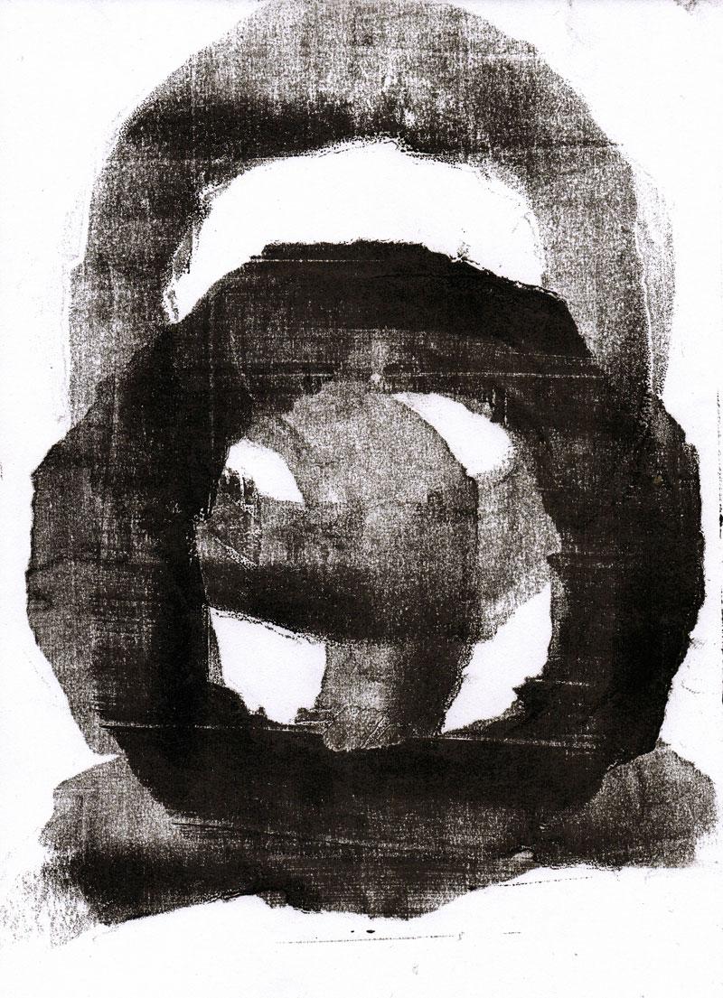 Abstrakt (01), Monotypie, 30 x 21 cm, Oxana Mahnac, 2015