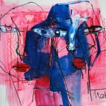 Ansicht, 42 x 60 cm, Mixed Media auf Papier, Oxana Mahnac
