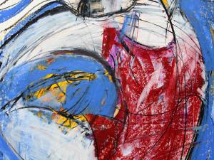 Bewegung ist gut (Leben in Harmonie), Mixed Media, 60 x 42 cm, Oxana Mahnac, 2014