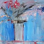 Blumen, Mixed Media, Papier, 42 x 60 cm, Oxana Mahnac, 2011 (sold)