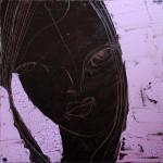 Chocolate Girl (01), Acryl/Öl auf Leinwand, 50 x 50 cm, Oxana Mahnac, 2012 (sold)