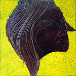 Chocolate Girl (02), Acryl/Öl auf Leinwand, 50 x 50 cm, Oxana Mahnac, 2012