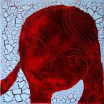 Chocolate Girl (03), Acryl/Öl auf Leinwand, 50 x 50 cm, Oxana Mahnac, 2012 (sold)