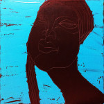 Chocolate Girl (04), Acryl/Öl auf Leinwand, 50 x 50 cm, Oxana Mahnac, 2012 (sold)