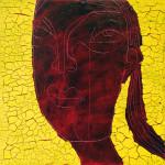 Chocolate Girl (05), Acryl/Öl auf Leinwand, 50 x 50 cm, Oxana Mahnac, 2012 (sold)