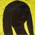 Chocolate Girl (06), Acryl/Öl auf Leinwand, 50 x 50 cm, Oxana Mahnac, 2012 (sold)