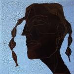 Chocolate Girl (07), Acryl/Ölauf Leinwand, 50 x 50 cm, Oxana Mahnac, 2012 (sold)