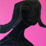 Chocolate Girl (08), Acryl/Öl auf Leinwand, 50 x 50 cm, Oxana Mahnac, 2012 (sold)