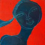 Chocolate Girl (09), Acryl/Öl auf Leinwand, 50 x 50 cm, Oxana Mahnac, 2012 (sold)