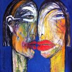 Dialog, Mixed Media, Papier, 52x 40 cm, Oxana Mahnac, 2013