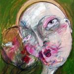 Erbe, 48 x 52 cm, Mixed Media auf Papier, Oxana Mahnac