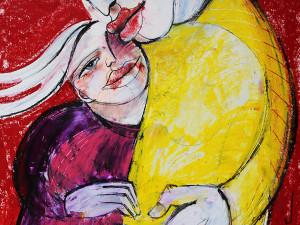 Familie (Leben in Harmonie), Mixed Media, 60 x 42 cm, Oxana Mahnac, 2014