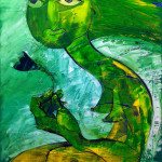 A green fairy (for Terry Pratchett), Öl auf Leinwand, 70 x 50 cm, Oxana Mahnac, 2012