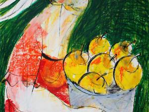 Frisch aus der Natur (Leben in Harmonie), Mixed Media, 60 x 42 cm, Oxana Mahnac, 2014