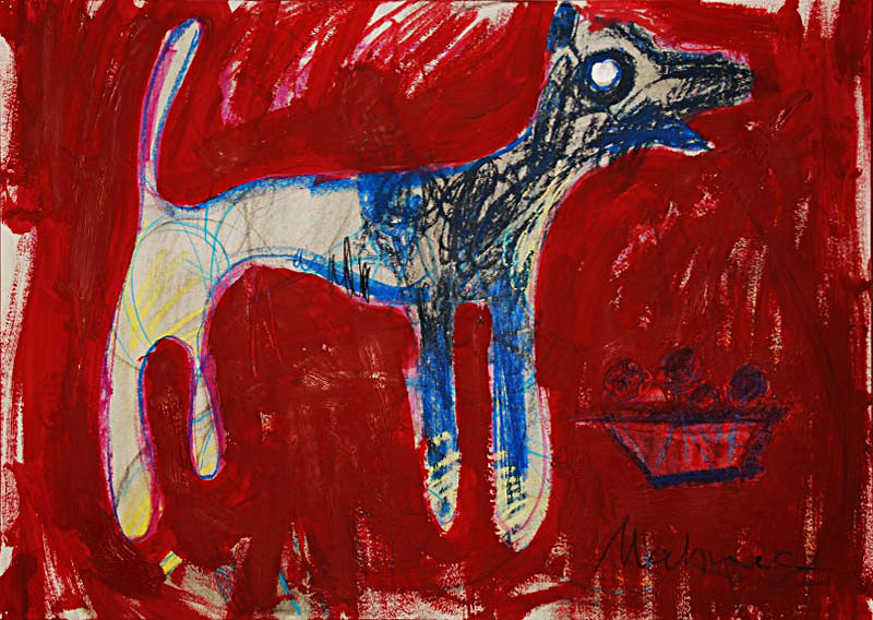 Hund, 42 x 60 cm, Mixed Media, Oxana Mahnac (sold)