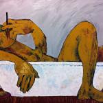 Im Bad, Öl auf Leinwand, 80 x 100 cm, Oxana Mahnac, 2012