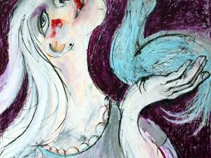 Im Einklang mit der Seele (Leben in Harmonie), Mixed Media, 60 x 42 cm, Oxana Mahnac, 2014