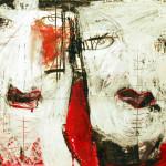 Kiss, Mixed Media, Papier, 42x 60 cm, Oxana Mahnac, 2011
