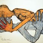 Liebespaar, Mixed Media, Papier, 42 x 60 cm, Oxana Mahnac, 2011