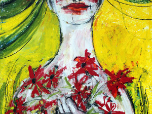 Natürlich schön (Leben in Harmonie), Mixed Media, 60 x 42 cm, Oxana Mahnac, 2014