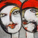 Partner, Mixed Media, Papier, 42 x 60 cm, Oxana Mahnac, 2011