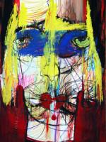 Maske, Mixed Media, 60 x 42 cm, Oxana Mahnac