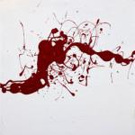 Ein Gefühl, abstrakte Malerei (Triptychon), Acryl auf Leinwand, je 50 x 50 cm, Oxana Mahnac, 2014